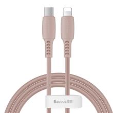 Synchronizační a nabíjecí kabel BASEUS - Lightning pro Apple zařízení - USB-C - 1,2m - růžový