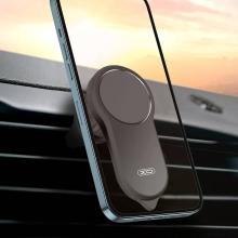 Držák do auta XO C62 3v1 - řezač pasů / nouzové kladívko - magnetický - do ventilační mřížky -  černý
