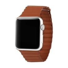 Elegantní řemínek BASEUS + magnetické upínání / uzavírání pro Apple Watch 42mm Series 1 / 2 / 3 - hnědý