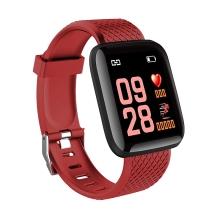 Fitness chytré hodinky Lemonda - tlakoměr / krokoměr / měřič tepu - Bluetooth - červené
