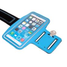 Sportovní pouzdro pro Apple iPhone 6 / 6s / 7 / 8 Plus a X / Xs / Xr - reflexní pruh - modré