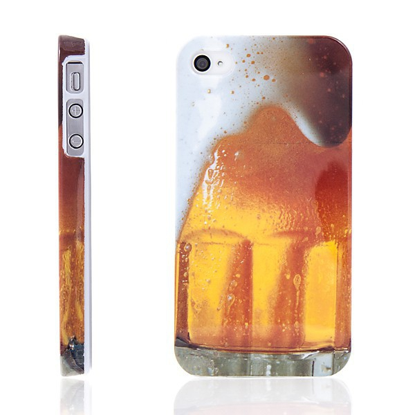 Ochranný plastový kryt pro Apple iPhone 4 / 4S - pivo