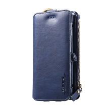 Pouzdro / peněženka FLOVEME pro Apple iPhone 6 / 6S / 7 / 8 - umělá kůže - modré