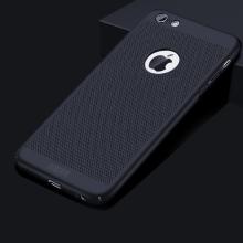 Kryt MOFi pro Apple iPhone 6 / 6S - perforovaný / s otvory - plastový - kovově modrý