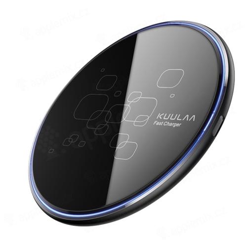 Bezdrátová nabíječka / nabíjecí podložka KUULAA Qi - 15W - skleněná