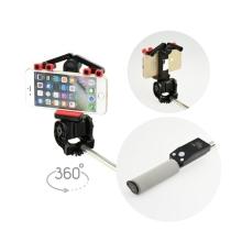 360° selfie tyč / monopod - Bluetooth spoušť a otáčení