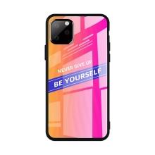 Kryt pro Apple iPhone 11 Pro - gumový / skleněný - růžový