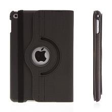 Pouzdro / kryt pro Apple iPad mini 4 - 360° otočný držák a prostor na doklady - černé