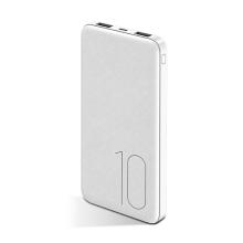 Externí baterie / power bank USAMS US-CD63 - 10000 mAh - 2x USB, 2A, vstup Micro USB - bílá
