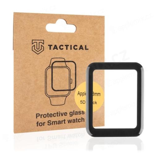 Tvrzené sklo TACTICAL 5D pro Apple Watch 38mm Series 1 / 2 / 3 - 3D okraj - černé / čiré