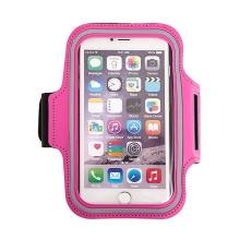 Sportovní pouzdro pro Apple iPhone 6 Plus / 6S Plus - růžové + reflexní pruh