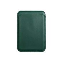 Pouzdro na platební karty s MagSafe uchycením pro Apple iPhone - umělá kůže - zelené