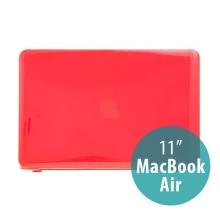 Tenký ochranný plastový obal pro Apple MacBook Air 11.6 - lesklý - červený