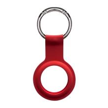 Kryt / obal DEVIA pro Apple AirTag - kovový kroužek - silikonový - červený