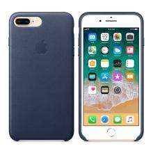 Originální kryt pro Apple iPhone 7 Plus / 8 Plus - kožený - půlnočně modrý