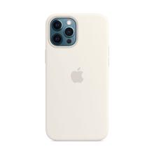 Originální kryt pro Apple iPhone 12 Pro Max - silikonový - bílý