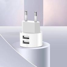 Nabíjecí sada - EU napájecí adaptér + kabel Lightning pro Apple iPhone - XO L62 - 2x USB - 12W - 1m - bílý