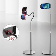 Stojan / držák pro Apple iPhone / iPad - ohebné rameno - 136cm - kovový - černý