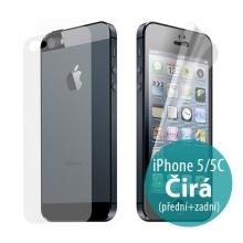 Ochranná fólie pro Apple iPhone 5 / 5C - čirá - přední a zadní