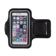 Sportovní pouzdro pro Apple iPhone 6 / 6S / 7 / 8 / SE (2020) - černé / modré s reflexním pruhem