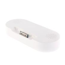 Dokovací stanice s mini reproduktory pro Apple iPhone / iPod s 30pin konektorem (externí baterie 1000mA)