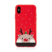 Kryt pro Apple iPhone 12 / 12 Pro - vánoční - gumový - kreslené motivy