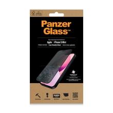 Tvrzené sklo (Tempered Glass) PANZERGLASS pro Apple iPhone 13 mini - černý rámeček - privacy - 0,4mm