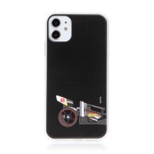 Kryt HOT WHEELS - pro Apple iPhone 11 - gumový - formule - černý