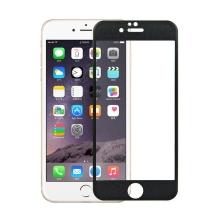 Tvrzené sklo (Tempered Glass) pro Apple iPhone 6 / 6S - černý rámeček - 0,3mm