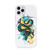 Kryt Harry Potter pro Apple iPhone 11 Pro Max - gumový - had Zmijozelu