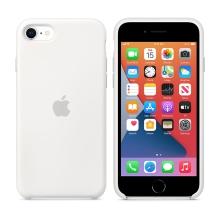Originální kryt pro Apple iPhone 7 / 8 / SE (2020) - silikonový - bílý