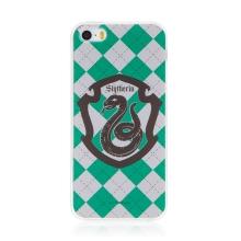 Kryt Harry Potter pro Apple iPhone 5 / 5S / SE - gumový - emblém Zmijozelu