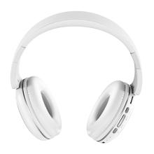 Bezdrátová Bluetooth sluchátka HOCO W23 - kvalitní zvukový projev - bílá