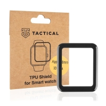 Ochranná 3D fólie TACTICAL pro Apple Watch 38mm Series 1 / 2 / 3 - černá / čirá
