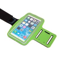 Sportovní pouzdro pro Apple iPhone 6 / 6s / 7 / 8 Plus a X / Xs / Xr - reflexní pruh - zelené