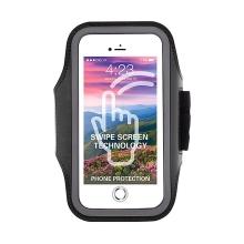 Sportovní pouzdro ZEST pro Apple iPhone 6 / 6S / 7 / 8 - látkové - černé + reflexní prvky
