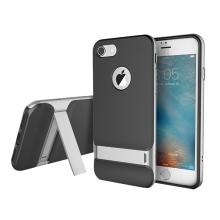 Kryt ROCK Royce pro Apple iPhone 7 / 8 gumový / šedý plastový rámeček - černý