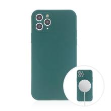 Kryt pro Apple iPhone 11 Pro Max - MagSafe magnety - silikonový - lesně zelený