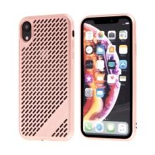 Kryt  pro Apple iPhone Xr - gumový - s otvory - růžový