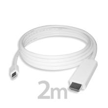 Propojovací kabel / redukce Mini DisplayPort (Thunderbolt) na HDMI - bílý - 2m
