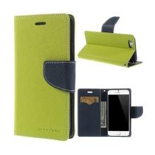 Pouzdro Mercury pro Apple iPhone 6 / 6S - stojánek a prostor pro platební karty - zeleno-modré