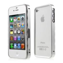 Kovový rámeček / bumper pro Apple iPhone 4 / 4S - stříbrný
