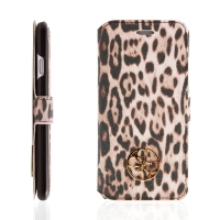 Pouzdro GUESS Animalier Leopard pro Apple iPhone 6 / 6S