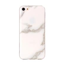 Kryt pro Apple iPhone 5C - mramorová textura - gumový - bílý