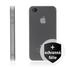 iShell ultra tenký průhledný kryt + ochranná fólie pro Apple iPhone 4 / 4S - průhledný