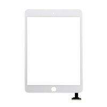 Přední dotykové sklo (touch screen) pro Apple iPad mini 3 bez IC konektoru - bílé - kvalita A