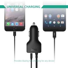Nabíječka do auta AUKEY CC-Y4 - USB-C nabíjecí kabel (3A) + USB port (2,4A) - černá