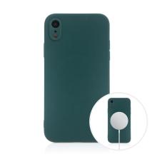 Kryt pro Apple iPhone Xr - MagSafe magnety - silikonový - lesně zelený