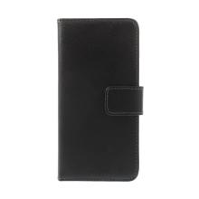 Pouzdro pro Apple iPhone 6 / 6S - stojánek + prostor pro platební karty - kožené - černé