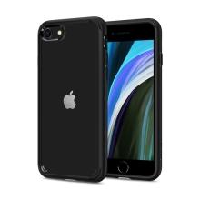 Kryt SPIGEN Liquid Crystal pro Apple iPhone 7 / 8 / SE (2020) - gumový - černý